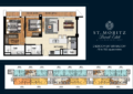 St. Moritz 2 Bedroom Unit Layout Floorplan